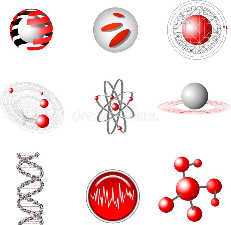 Elemente der Auslegung 3d. vektor abbildung
