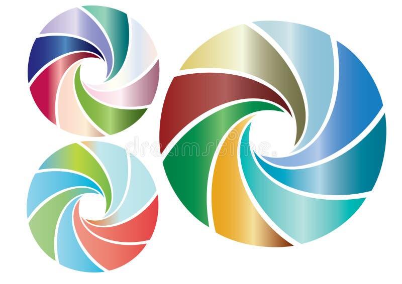 Elemente in der Farbe lizenzfreie abbildung