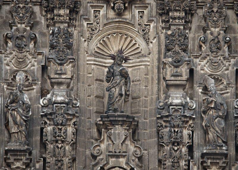 Elemente der Kathedrale auf Zocalo, Mexiko City lizenzfreie stockbilder