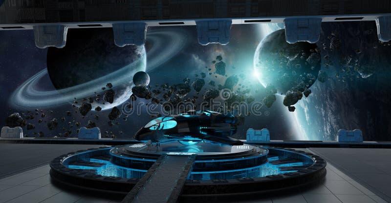 Elemente der Landebahnraumschiffinnen-Wiedergabe 3D von diesem i stock abbildung