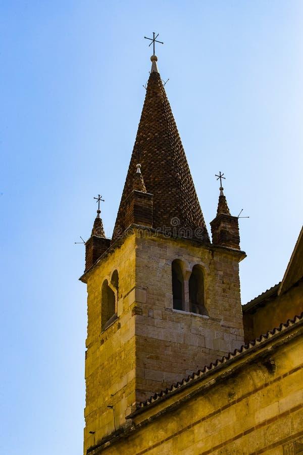 Elemente der Stadt von Verona machten in Italien stockfotografie