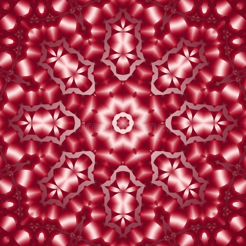8 Elemente färbten mythisches Kaleidoskop lizenzfreie abbildung