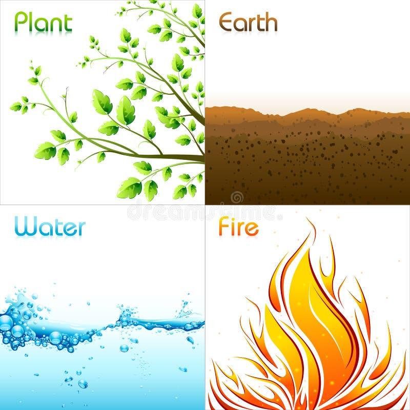Elemente von Erde stock abbildung
