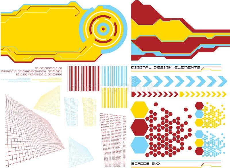 Elementen 5 van het ontwerp royalty-vrije illustratie