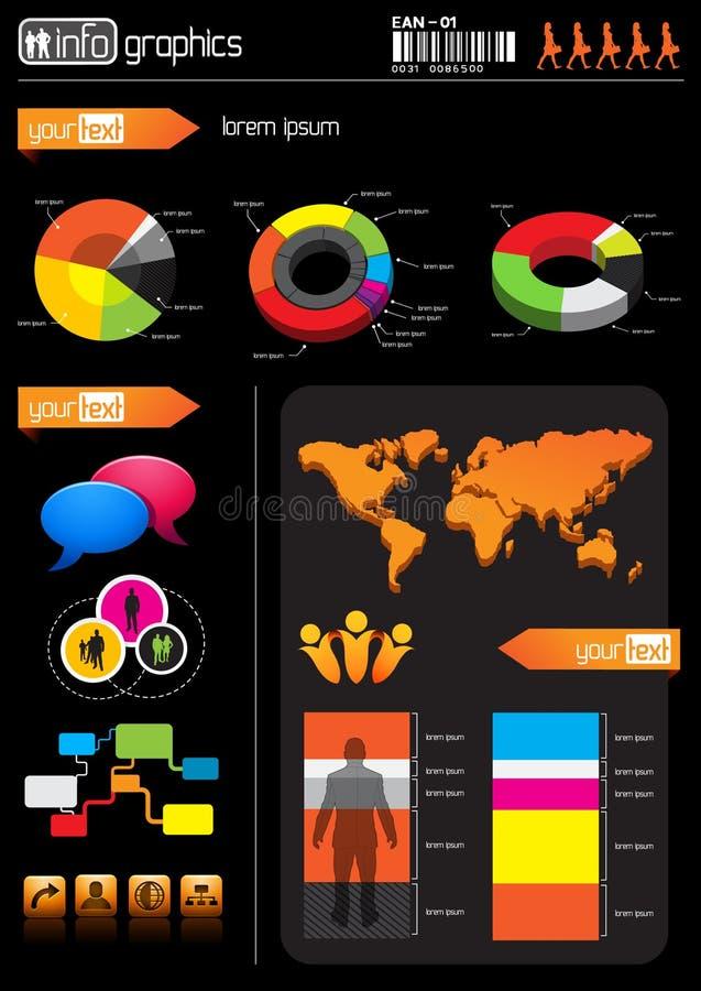 Elementen de bedrijfs van de Informatie royalty-vrije illustratie