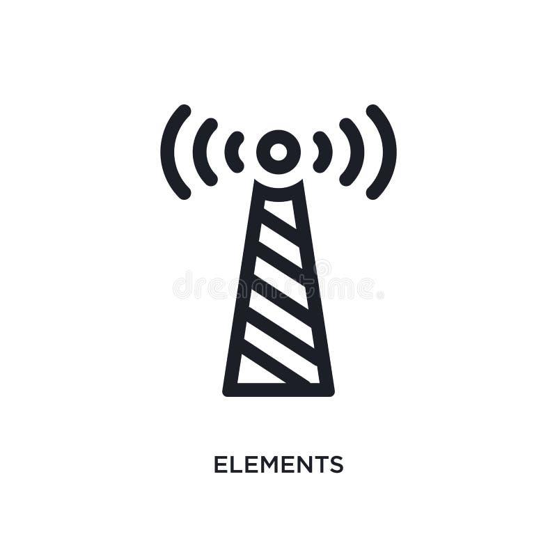 elementen geïsoleerd pictogram eenvoudige elementenillustratie van de pictogrammen van het technologieconcept ontwerp van het het royalty-vrije illustratie