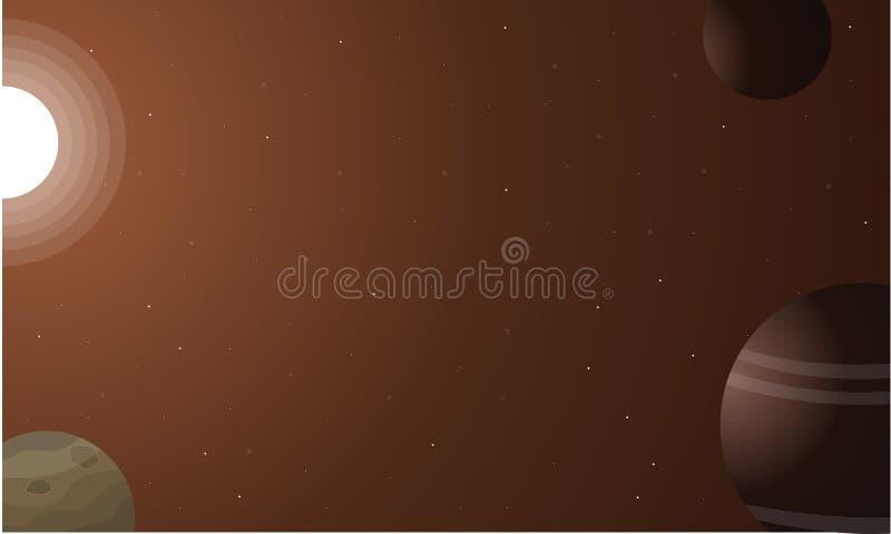 Elementen ruimte vectorart. als achtergrond vector illustratie