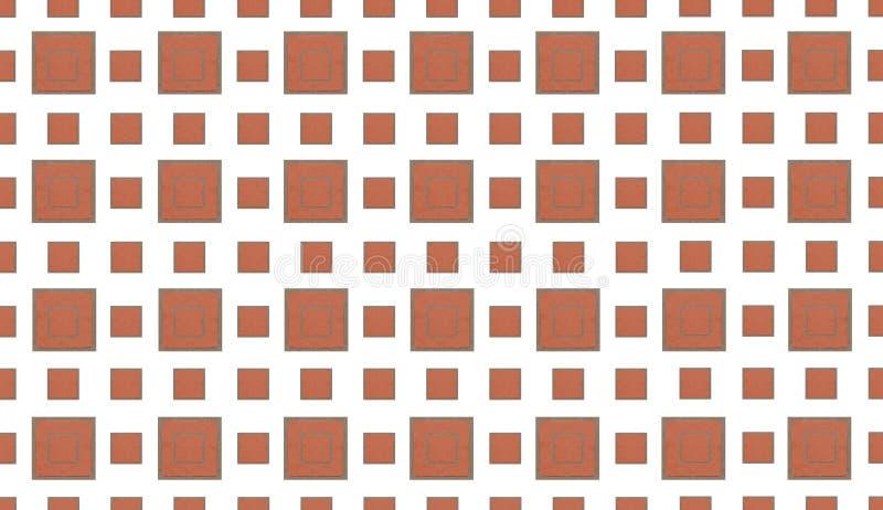 Elementen van de baksteen de vierkante tegel op witte achtergrond Een rij van kleine grote tegels een de bouwsamenvatting royalty-vrije illustratie