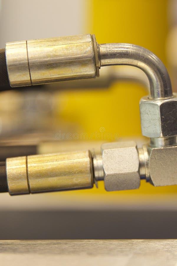 Elementen van de hydraulica en de pneumatiek van leidingenverbindingen royalty-vrije stock afbeeldingen