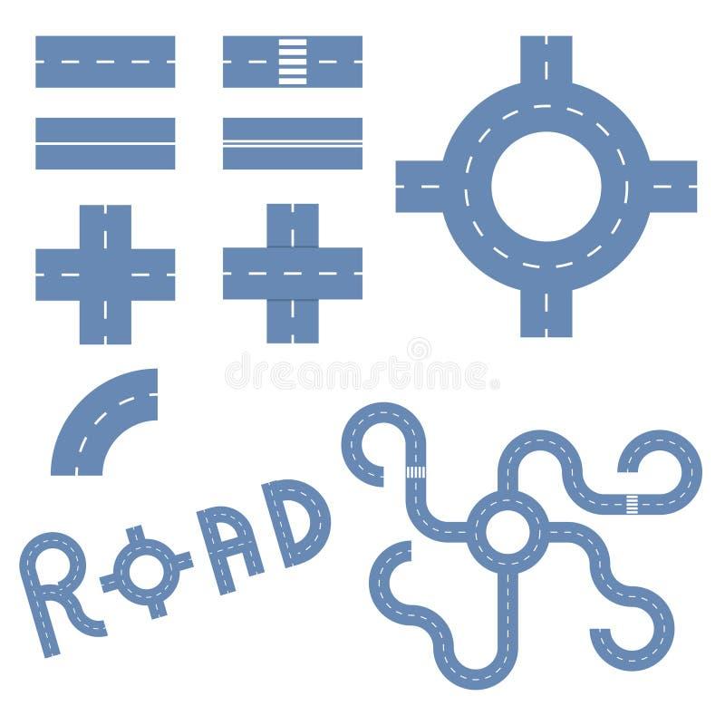 Elementen van de weg royalty-vrije illustratie