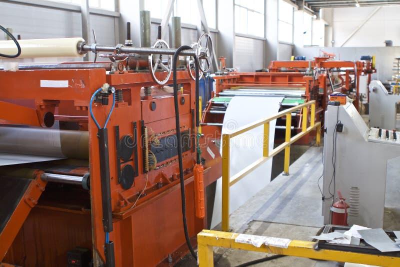 Elementen van diverse secties van de gegalvaniseerde lijn van de staalverwerking in broodjes stock afbeeldingen