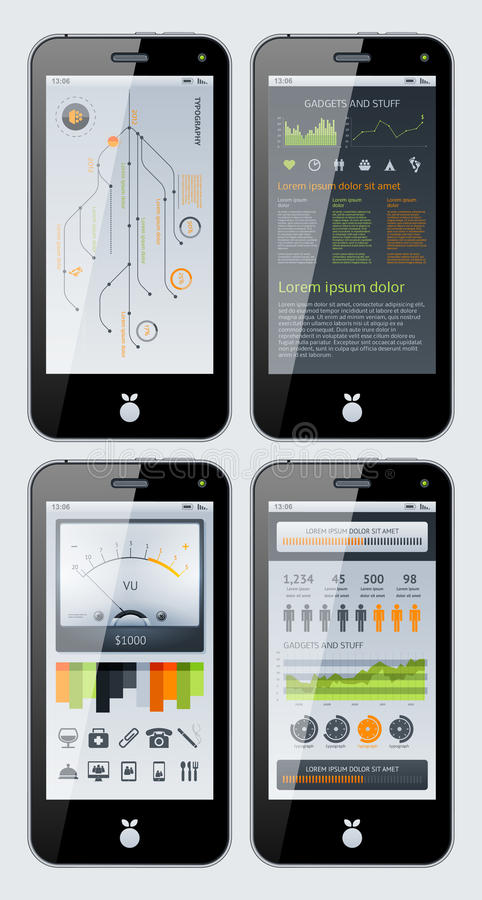 Elementen van Infographics stock illustratie