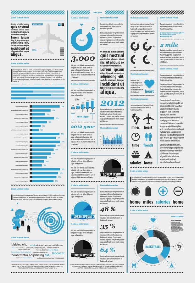 Elementen van infographics met de vliegtuigen royalty-vrije illustratie
