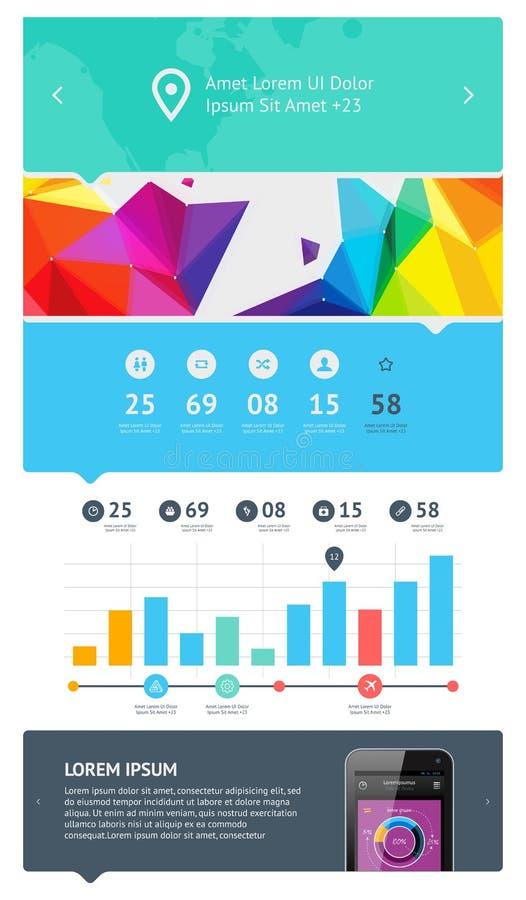 Elementen Van Infographics Met Knopen En Menu S Royalty-vrije Stock Afbeeldingen