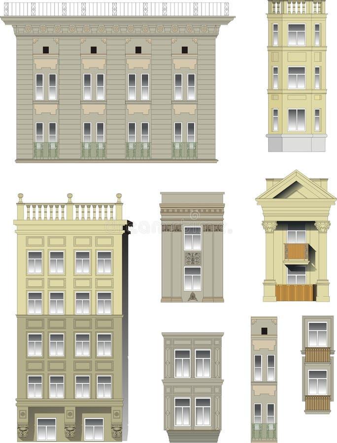 Elementen van klassieke gebouwen vector illustratie