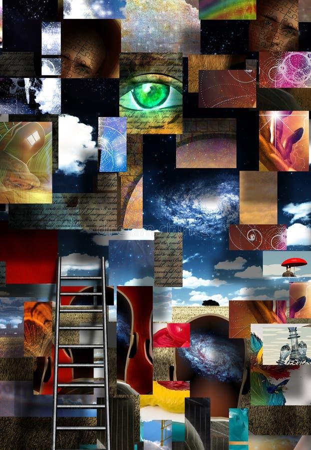 Elementen van menselijk bewustzijn vector illustratie