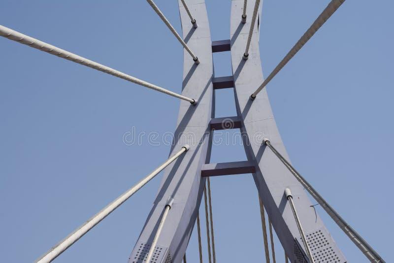 Elementen van moderne brug stock foto