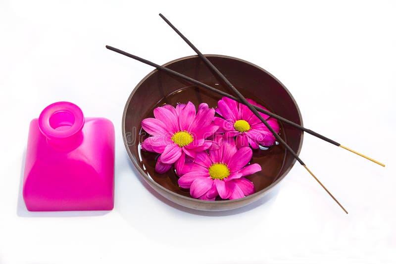 Elementen voor ayurvedic massage. stock afbeeldingen