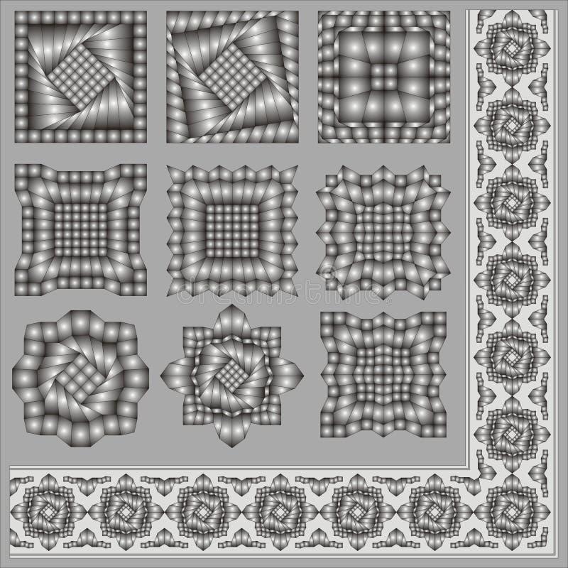 Elementen voor een ornament. stock afbeeldingen
