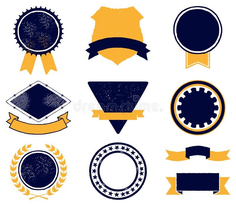 Elementen voor emblemen vector illustratie