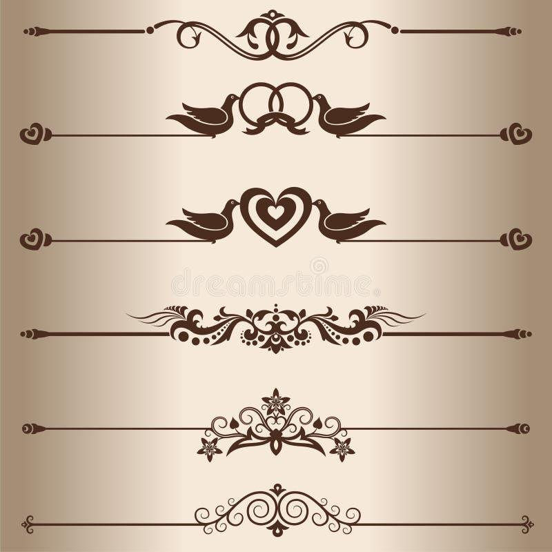 Decoratieve lijnen vector illustratie