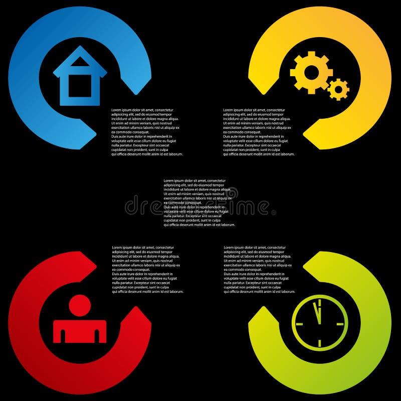 Elementhintergrund der Informationen grafischer Farb stock abbildung