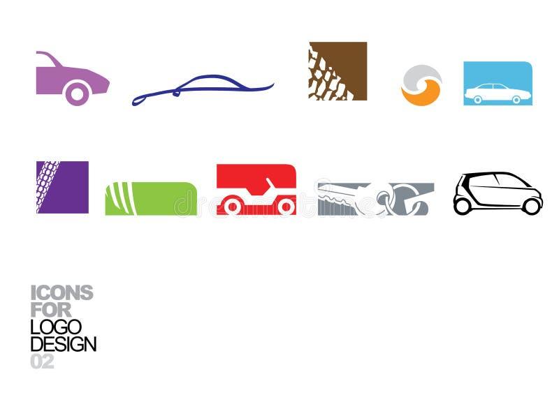 Elementi 02 di vettore di disegno di marchio illustrazione vettoriale