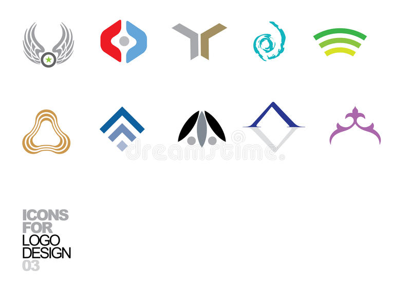 Elementi 03 di vettore di disegno di marchio royalty illustrazione gratis