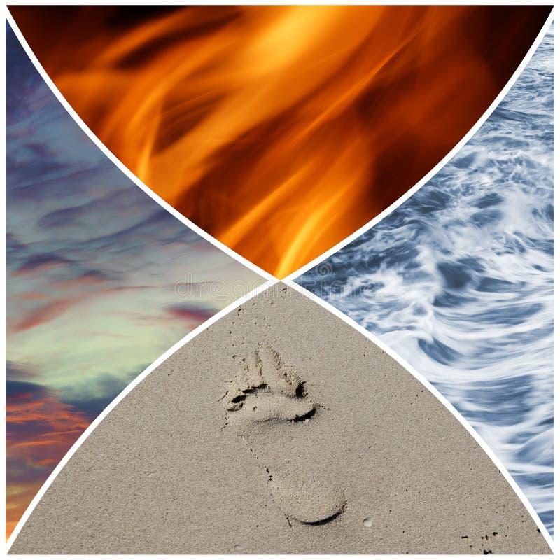 4 elementi immagini stock