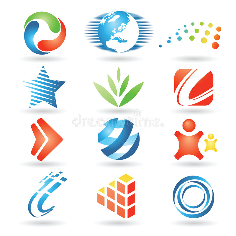 Elementi 5 di disegno di vettore illustrazione di stock