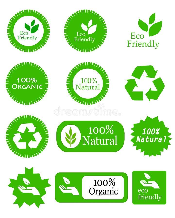 Elementi amichevoli di Eco royalty illustrazione gratis