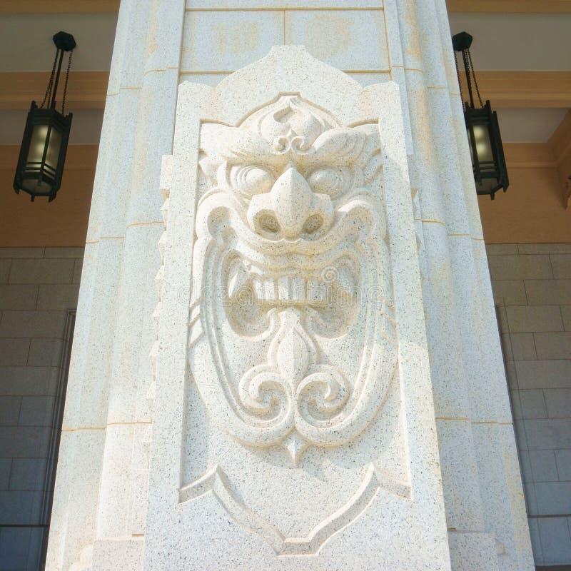 Elementi architettonici decorativi del dettaglio Museumin di costruzione di Yushukan, Yasukuni Jinja fotografia stock libera da diritti