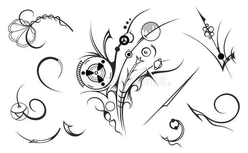 Elementi artistici di disegno illustrazione vettoriale