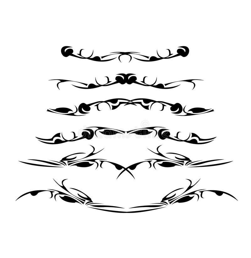 Elementi astratti di disegno illustrazione vettoriale