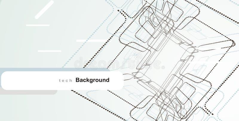 elementi astratti di disegno di tecnologia illustrazione vettoriale