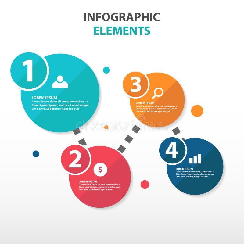 Elementi astratti di Infographics di affari del diagramma di flusso del cerchio, illustrazione piana di vettore di progettazione  illustrazione vettoriale