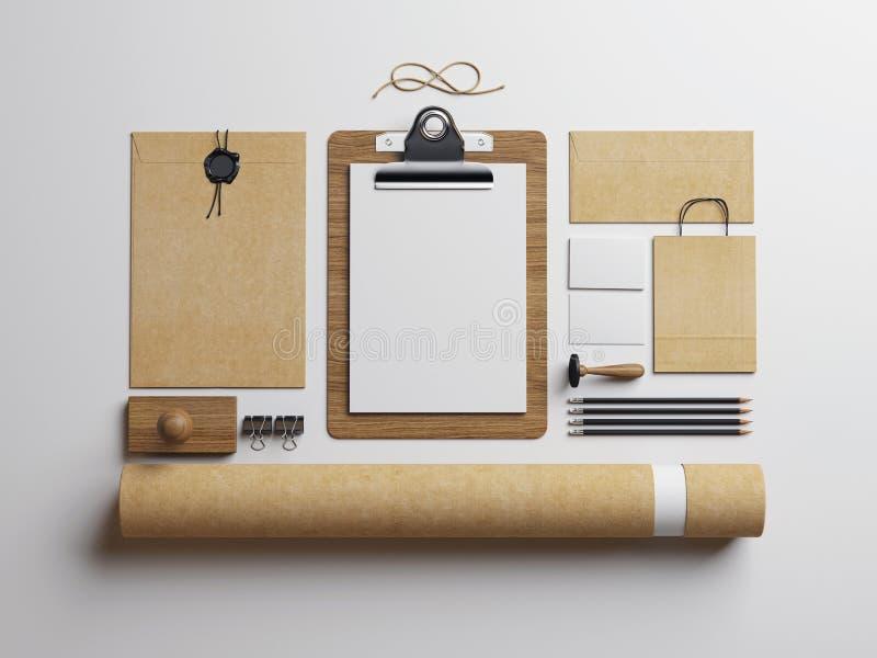 Elementi in bianco su fondo bianco fotografie stock libere da diritti