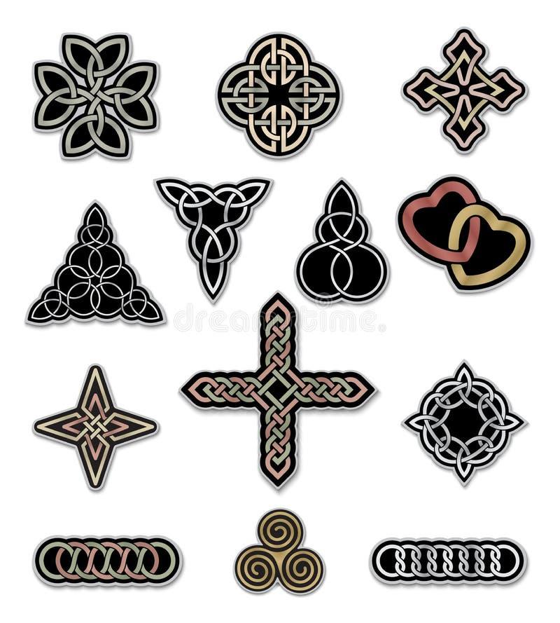 Elementi celtici 3 di progettazione illustrazione vettoriale