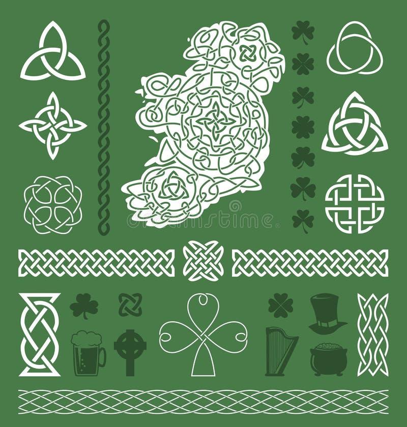 Elementi celtici di progettazione royalty illustrazione gratis