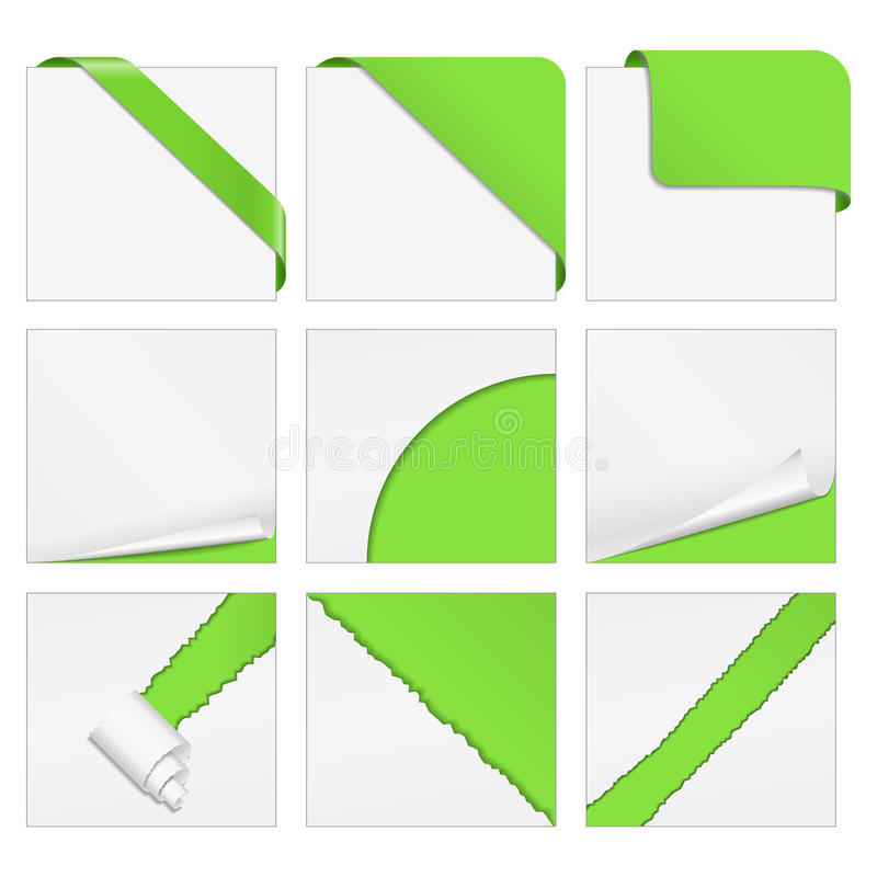 Elementi d'angolo di disegno illustrazione vettoriale