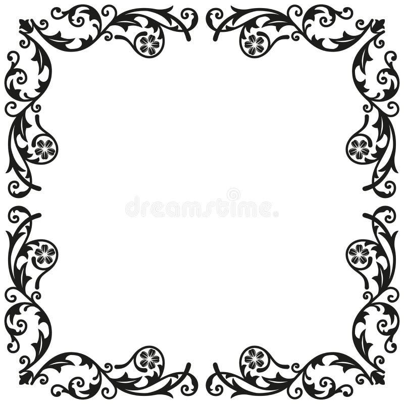 Elementi d'angolo Ornamento d'annata decorativo per progettazione royalty illustrazione gratis