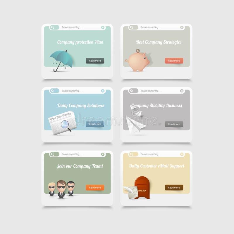 Elementi d'annata di concetto con le icone immagine stock