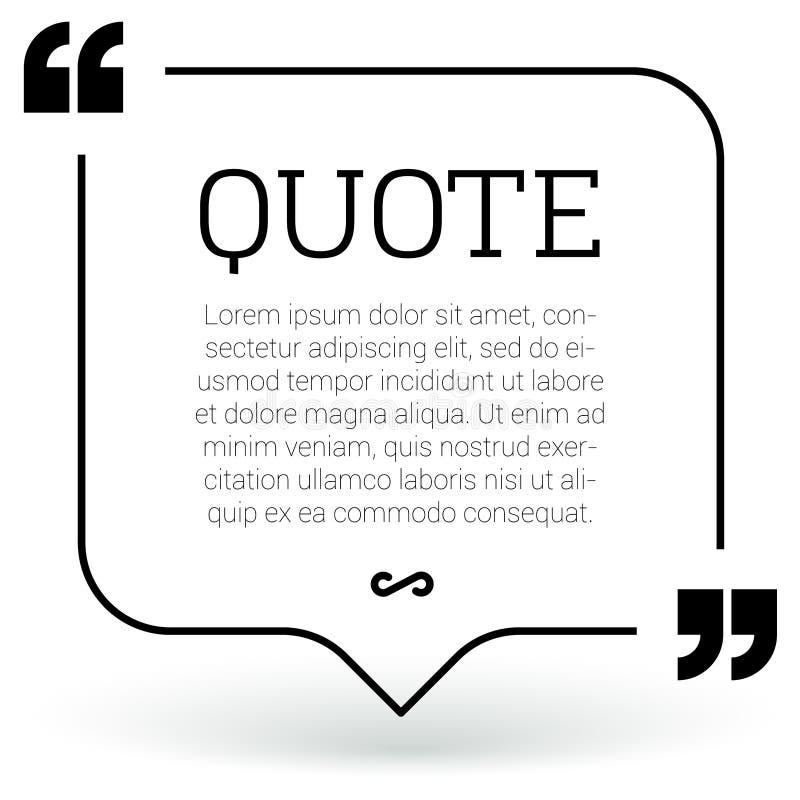 Elementi d'avanguardia di progettazione moderna di citazione del blocco illustrazione di stock