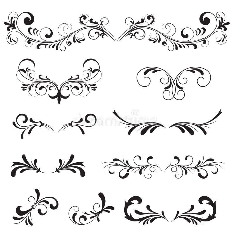 Elementi decorati royalty illustrazione gratis