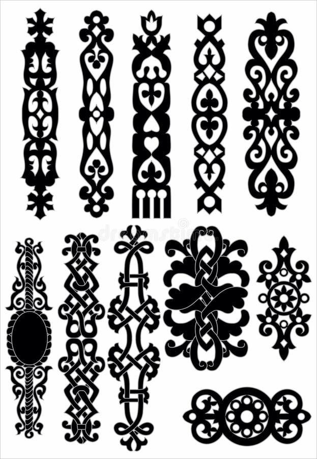 Elementi decorati celtici immagini stock