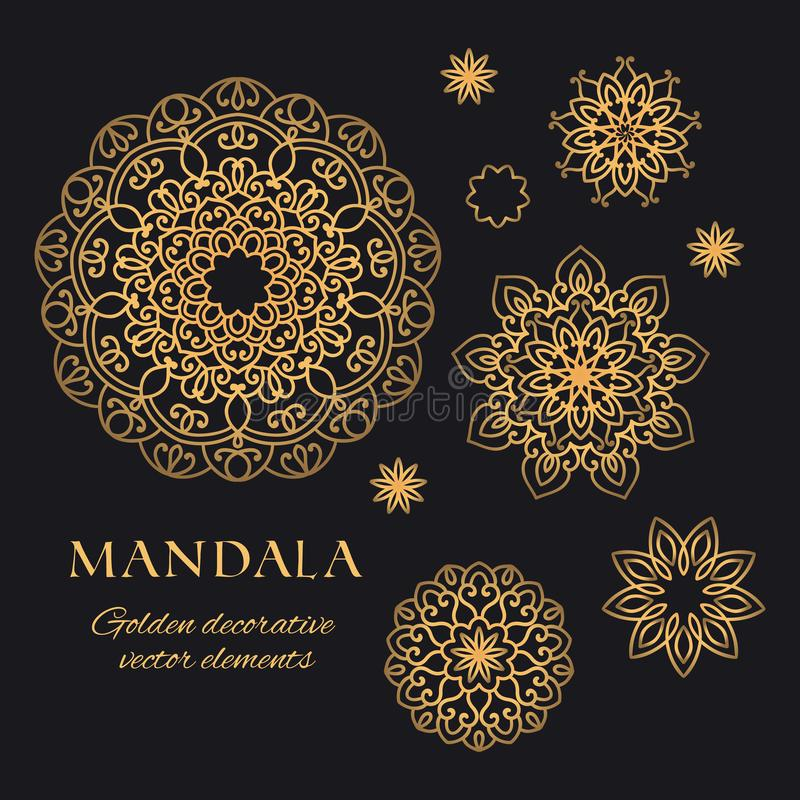 Elementi decorati disegnati a mano per il logo, l'identità, le stampe e la progettazione premio illustrazione di stock