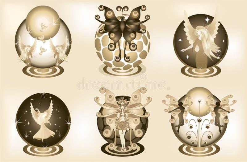 Elementi decorativi 2 di fantasia royalty illustrazione gratis
