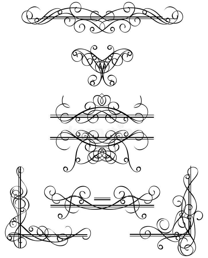 Elementi decorativi illustrazione di stock