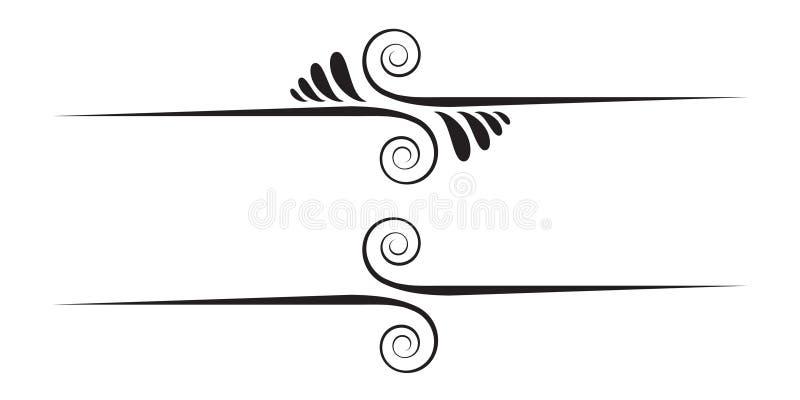 Elementi decorativi royalty illustrazione gratis