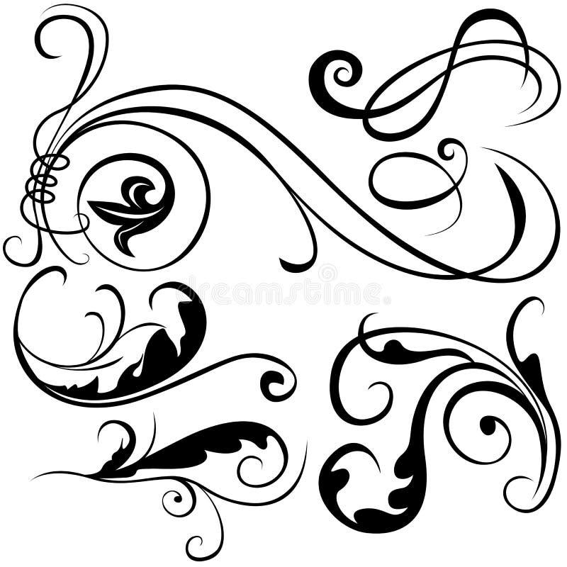Elementi decorativi B illustrazione di stock